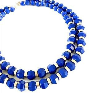 BANANA REPUBLIC brilliant blue layered choker NWT